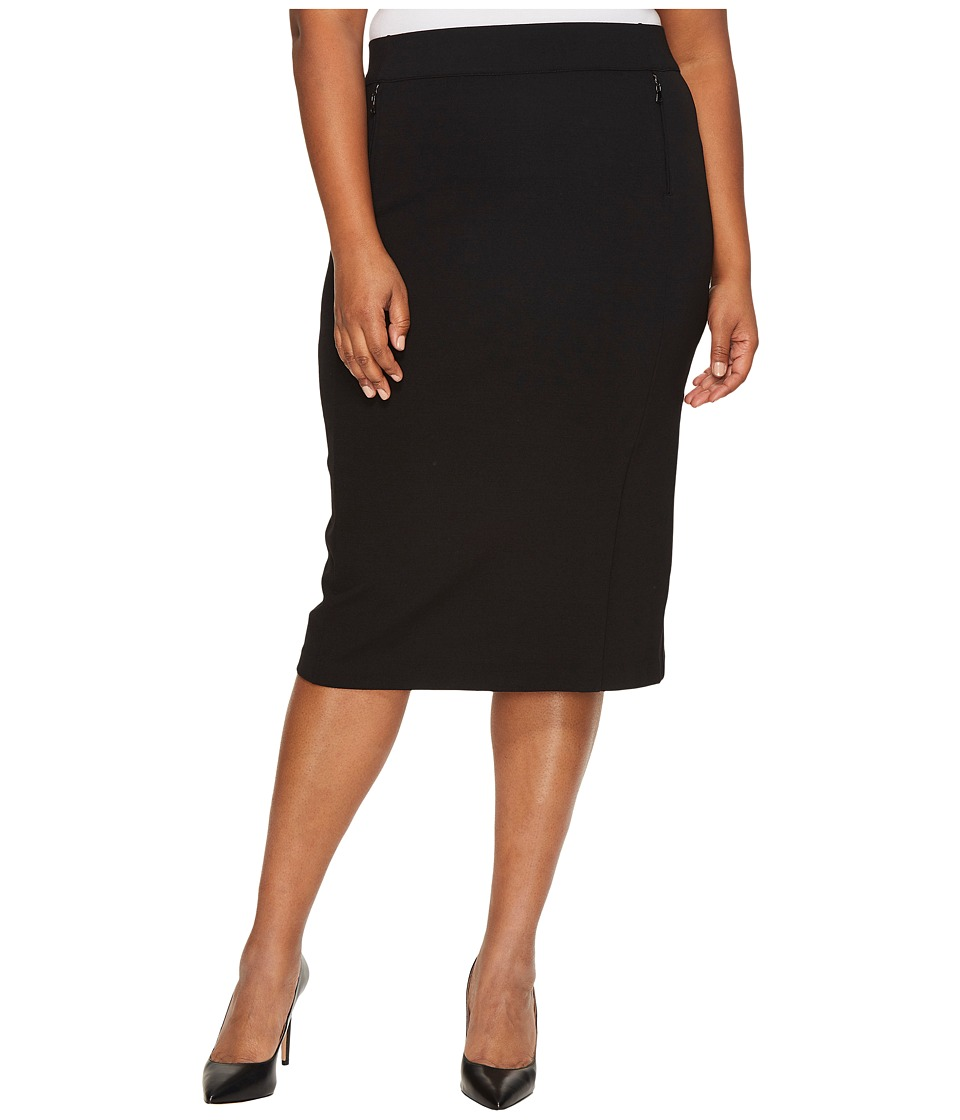 B Collection by Bobeau Curvy - Plus Size Ollie Ponte Pencil Skirt