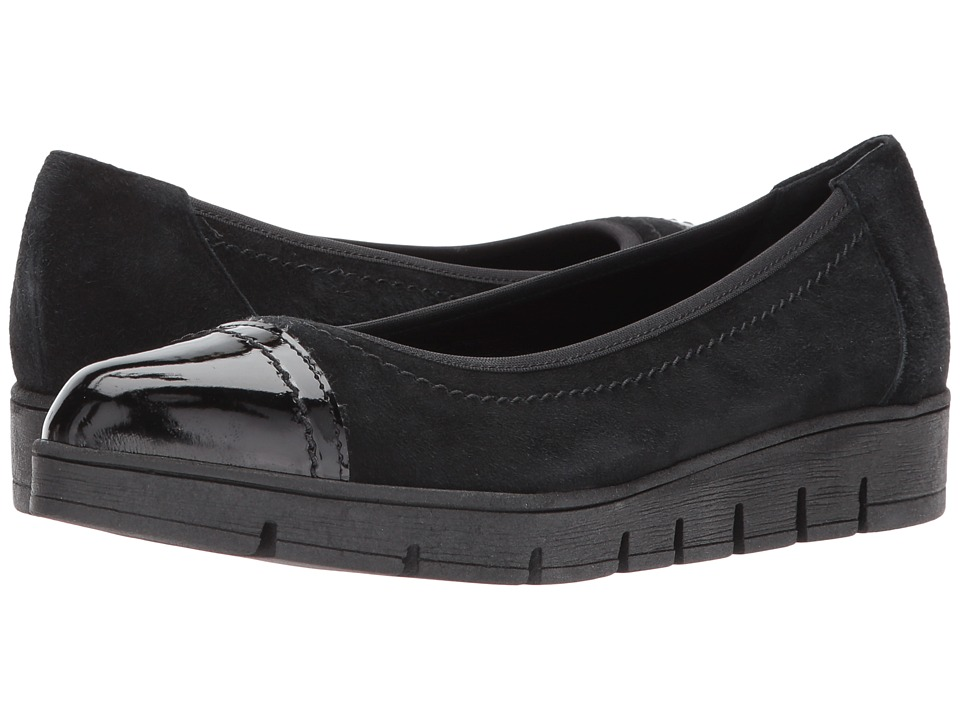 Cordani - Anya (Black Suede/Patent) Womens Slip-on Dress Shoes
