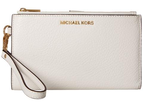 MICHAEL Michael Kors Adele Double Zip Wristlet 7+ - Optic White