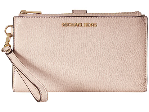 MICHAEL Michael Kors Adele Double Zip Wristlet 7+ - Soft Pink