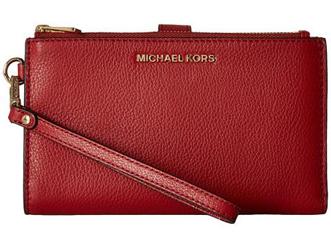 MICHAEL Michael Kors Adele Double Zip Wristlet 7+ - Burnt Red