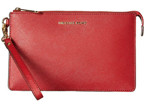 MICHAEL Michael Kors Daniela Medium Wristlet - Burnt Red