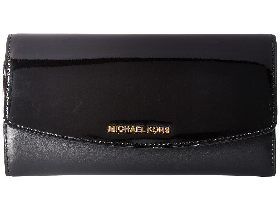 00ced927ae23 MICHAEL Michael Kors Ava Large Trifold Wallet (Black 1) Wallet Handbags ...