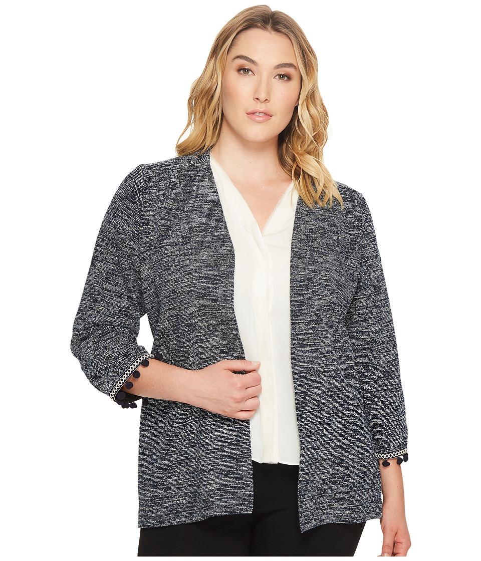 B Collection by Bobeau - Plus Size Maren Kimono Jacket with Trim