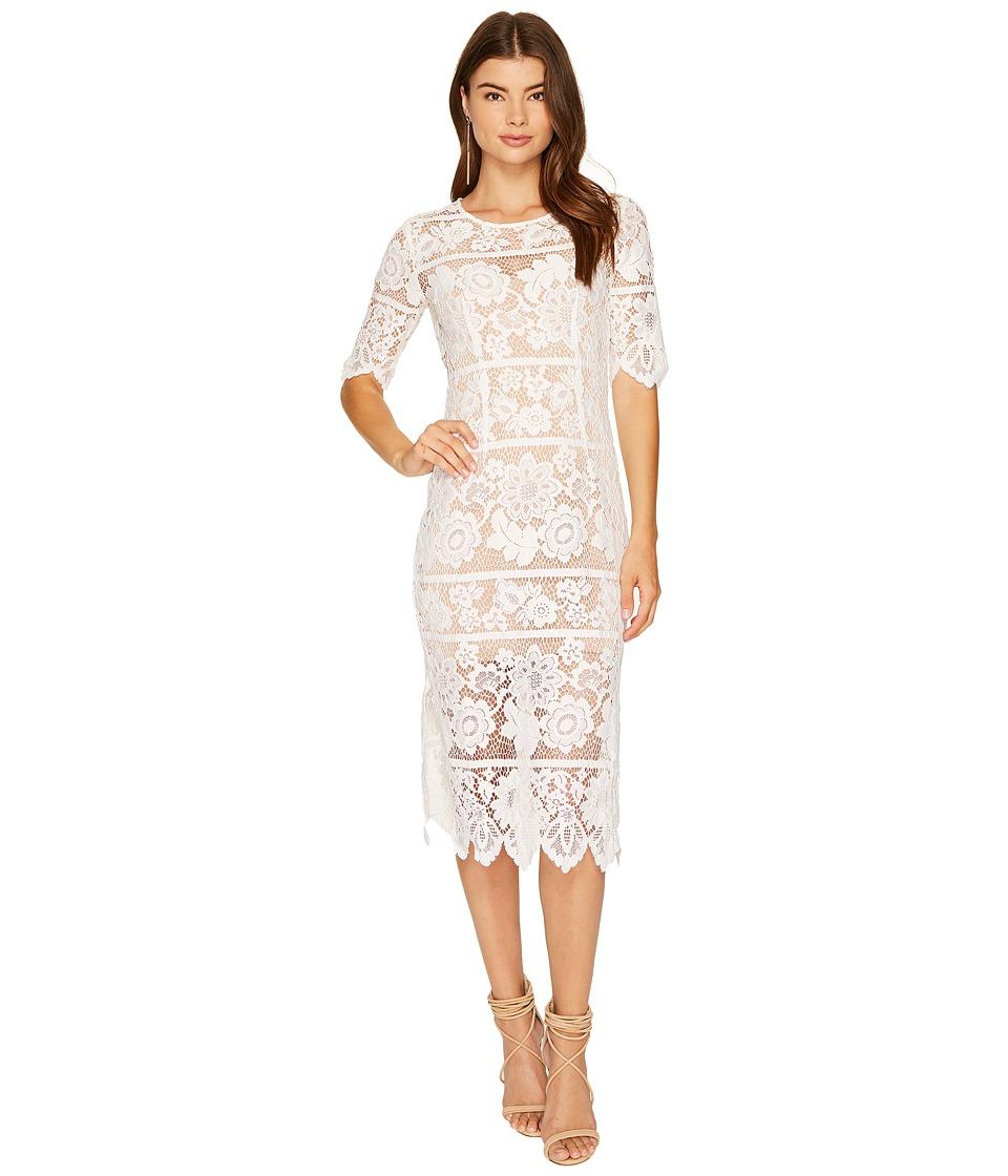 For Love and Lemons Lace Midi Dress (White) Women