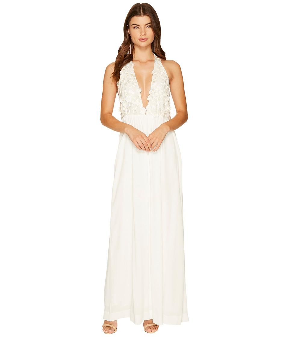 For Love and Lemons Halter Maxi Dress (White) Women