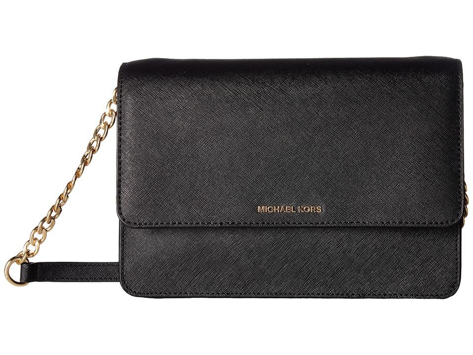 MICHAEL Michael Kors - Daniela Large Crossbody (Black) Cross Body Handbags