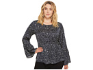 B Collection by Bobeau Plus Size Lee Flare Sleeve Blouse