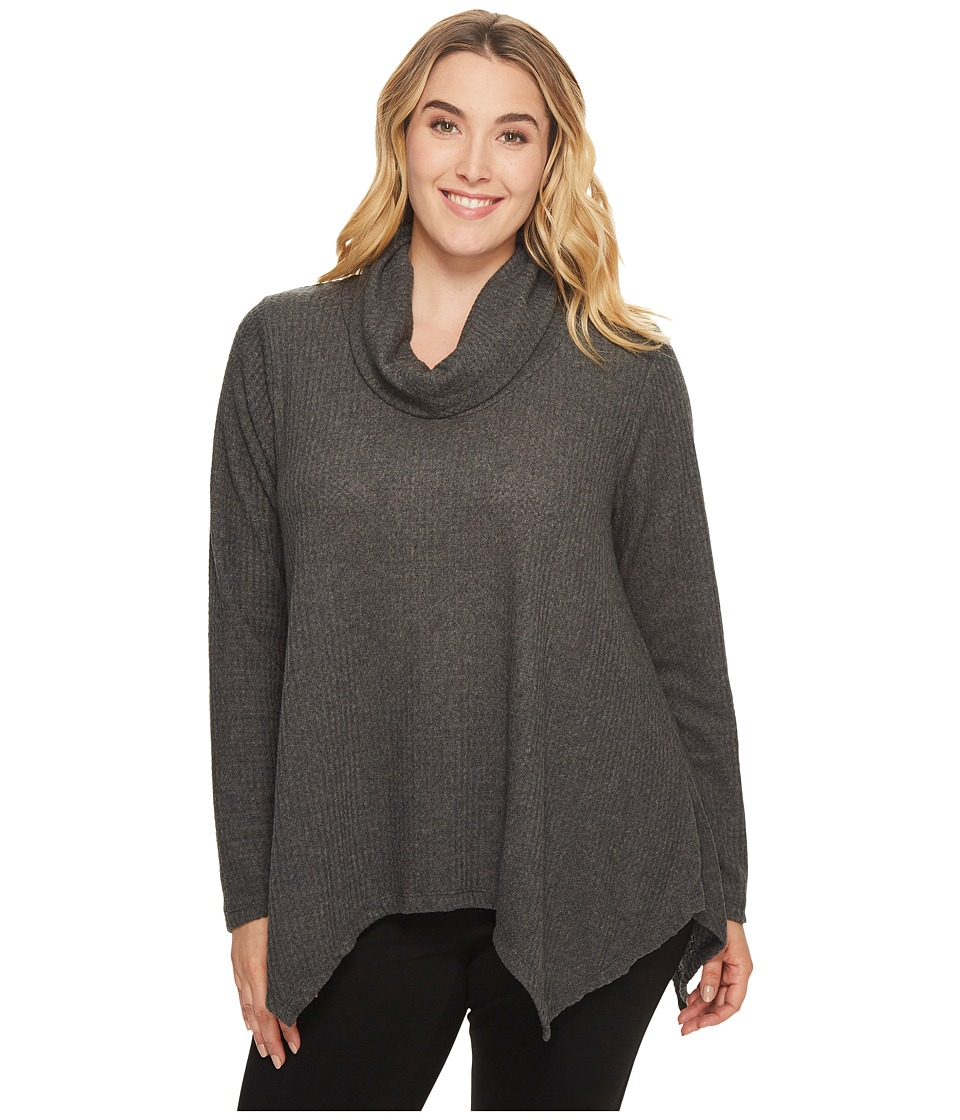 B Collection by Bobeau Curvy B Collection by Bobeau Curvy - Plus Size Analia Waffle Knit Top