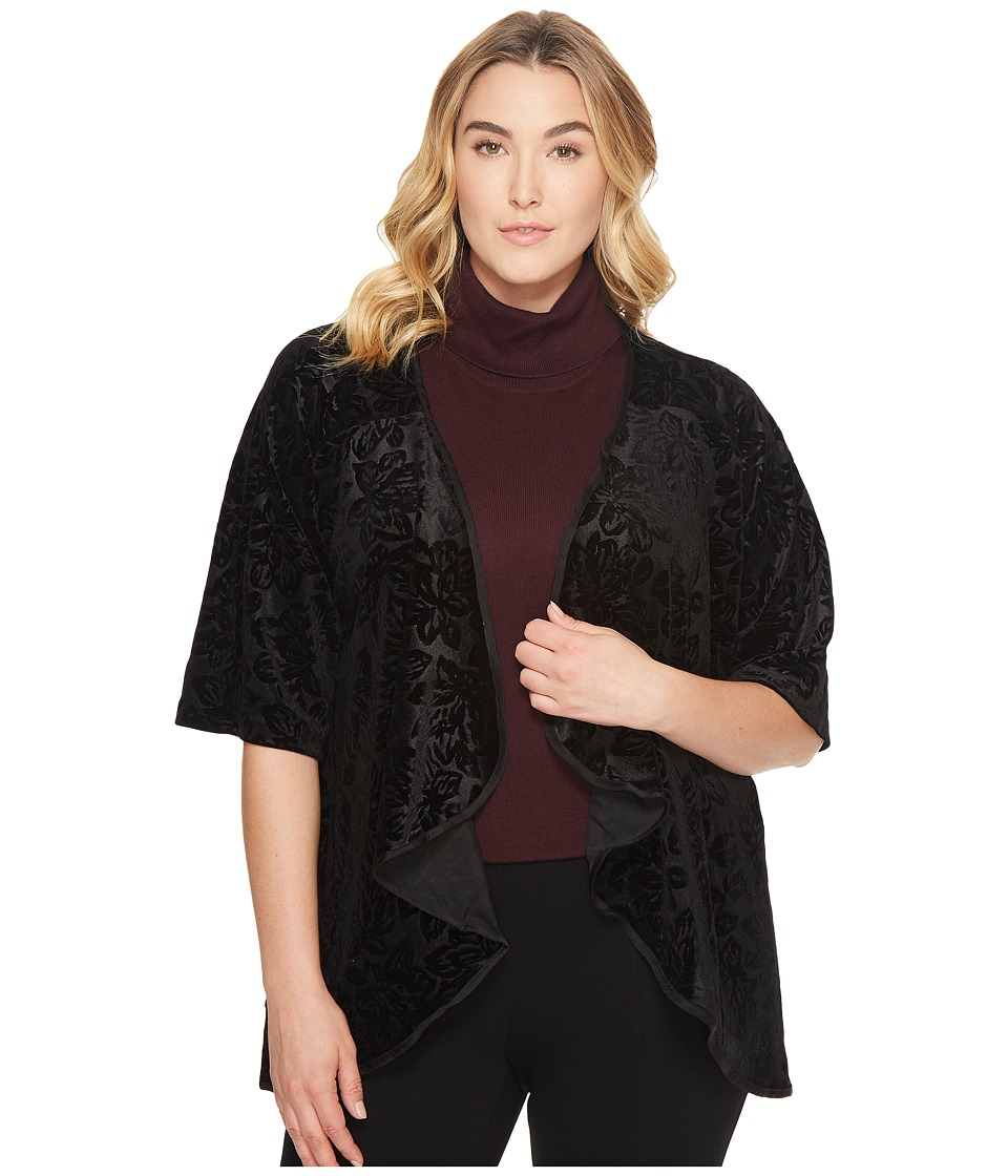 B Collection by Bobeau Curvy - Plus Size Velvet Cardigan