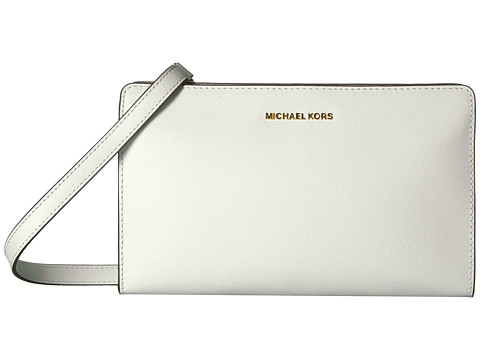 MICHAEL Michael Kors Jet Set Travel Lg Crossbody Clutch - Optic White