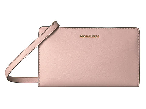 MICHAEL Michael Kors Jet Set Travel Lg Crossbody Clutch - Soft Pink