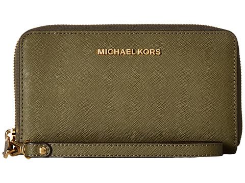 MICHAEL Michael Kors Jet Set Travel Large Flat MF Phone Case - Olive