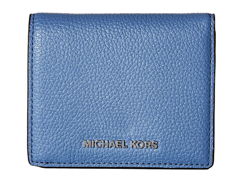 MICHAEL Michael Kors Mercer Flap Card Holder - Denim