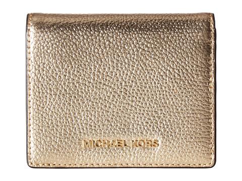 MICHAEL Michael Kors Mercer Flap Card Holder - Pale Gold