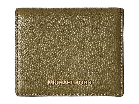 MICHAEL Michael Kors Mercer Flap Card Holder - Olive