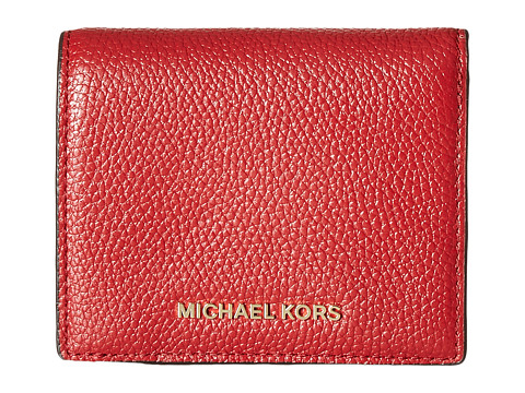 MICHAEL Michael Kors Mercer Flap Card Holder - Burnt Red