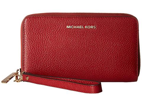 MICHAEL Michael Kors Mercer Lg Flat Mf Phn Case - Burnt Red