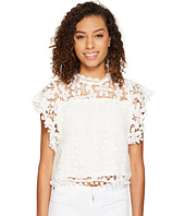 ROMEO & JULIET COUTURE - Butterfly Sleeve Lace Top