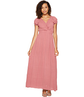 ROMEO & JULIET COUTURE - Short Sleeve Sold Color Maxi Dress