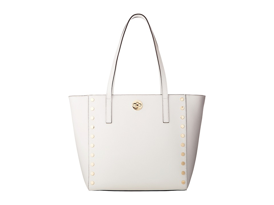 Michael Kors Rivington Stud Medium Tote (Optic White) Tot...