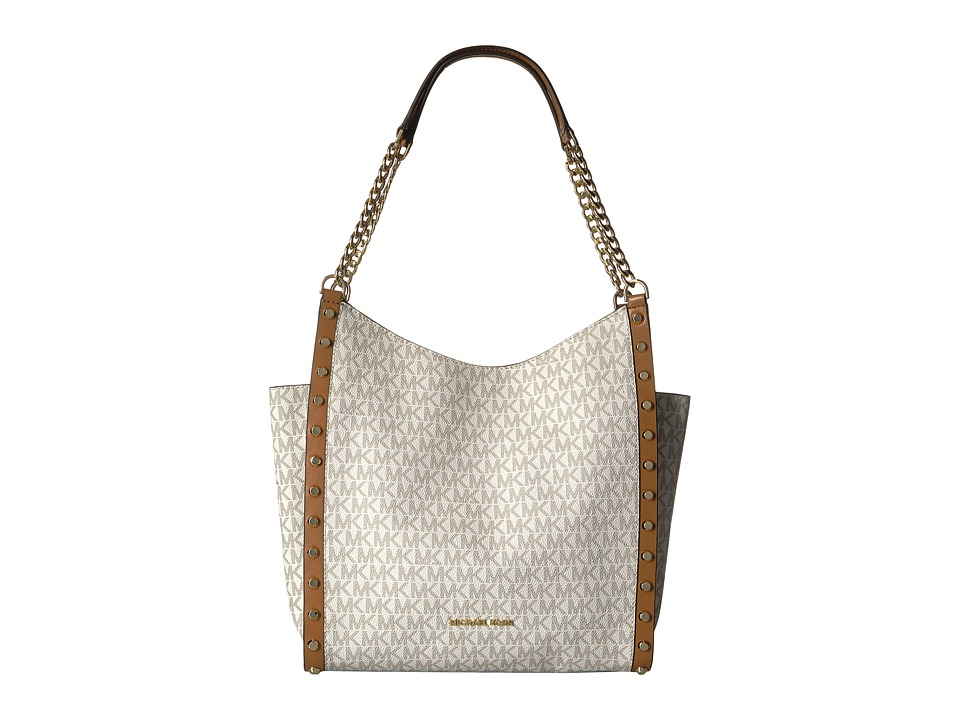 MICHAEL Michael Kors - Newbury Medium Chain Shoulder Tote (Vanilla) Tote Handbags