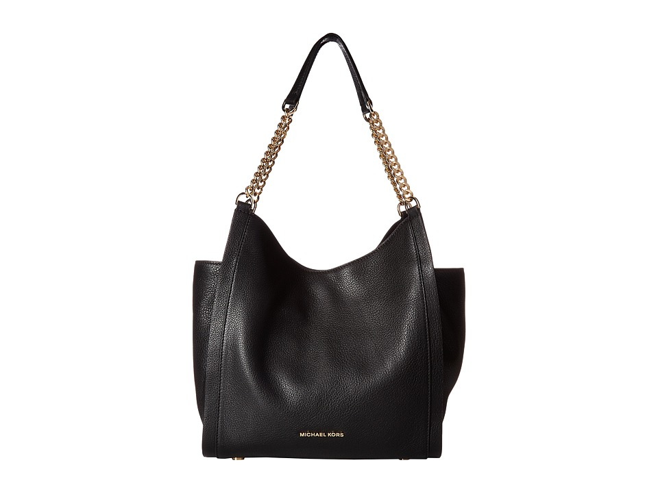 MICHAEL Michael Kors - Newbury Medium Chain Shoulder Tote (Black) Tote Handbags