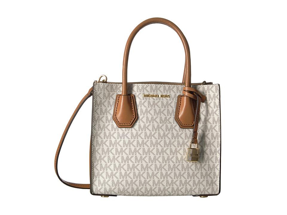MICHAEL Michael Kors Mercer Medium Messenger (Vanilla) Messenger Bags
