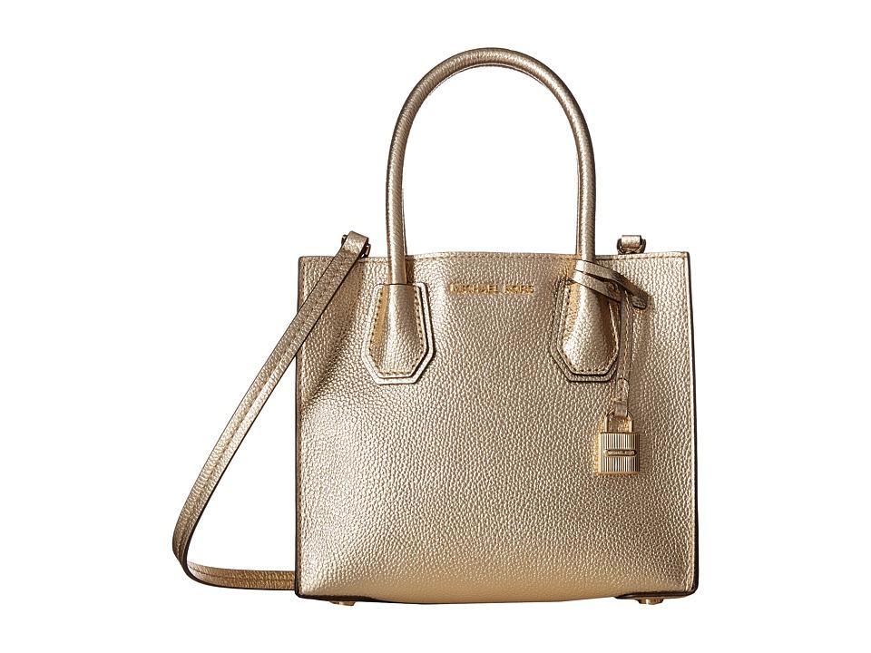 MICHAEL Michael Kors Mercer Medium Messenger (Pale Gold) Messenger Bags