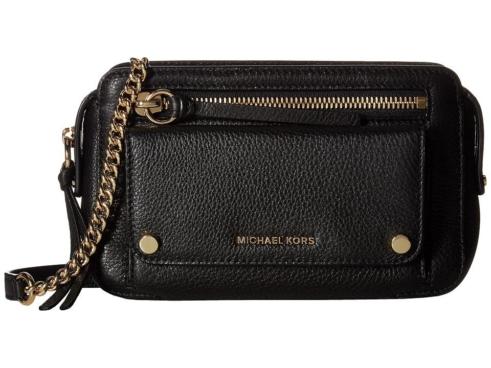MICHAEL Michael Kors Mitchell Medium Messenger (Black) Messenger Bags