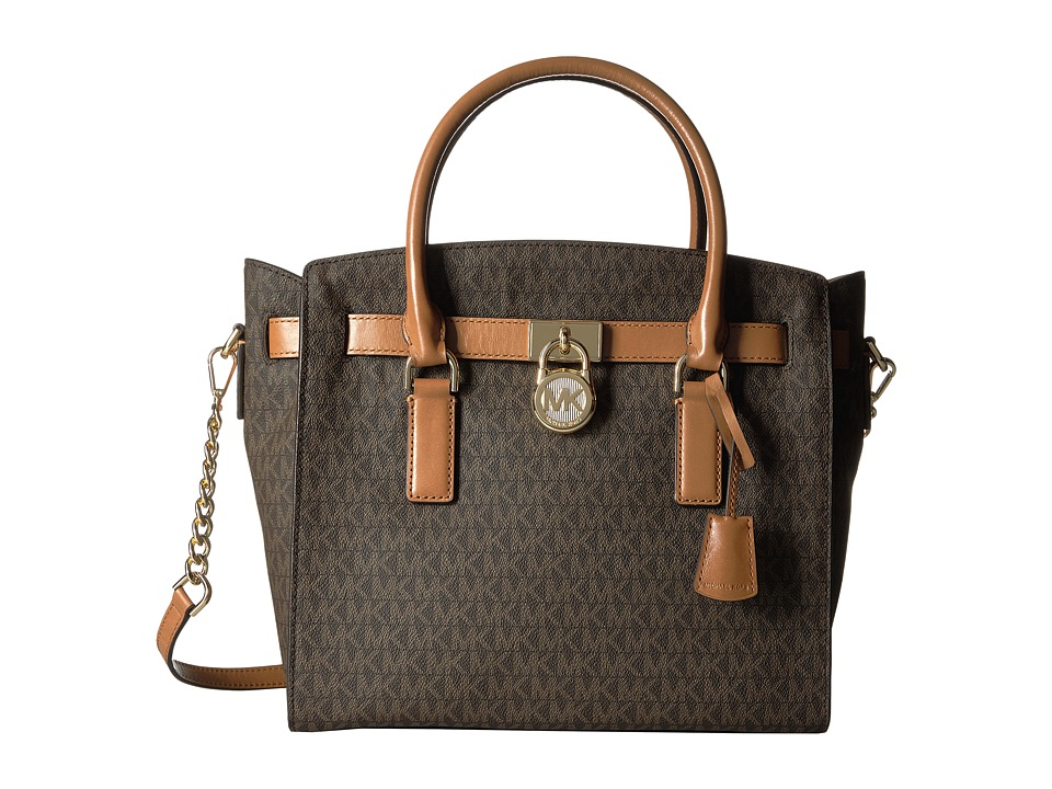 Michael Kors Hamilton Large East/West Satchel (Brown) Sat...