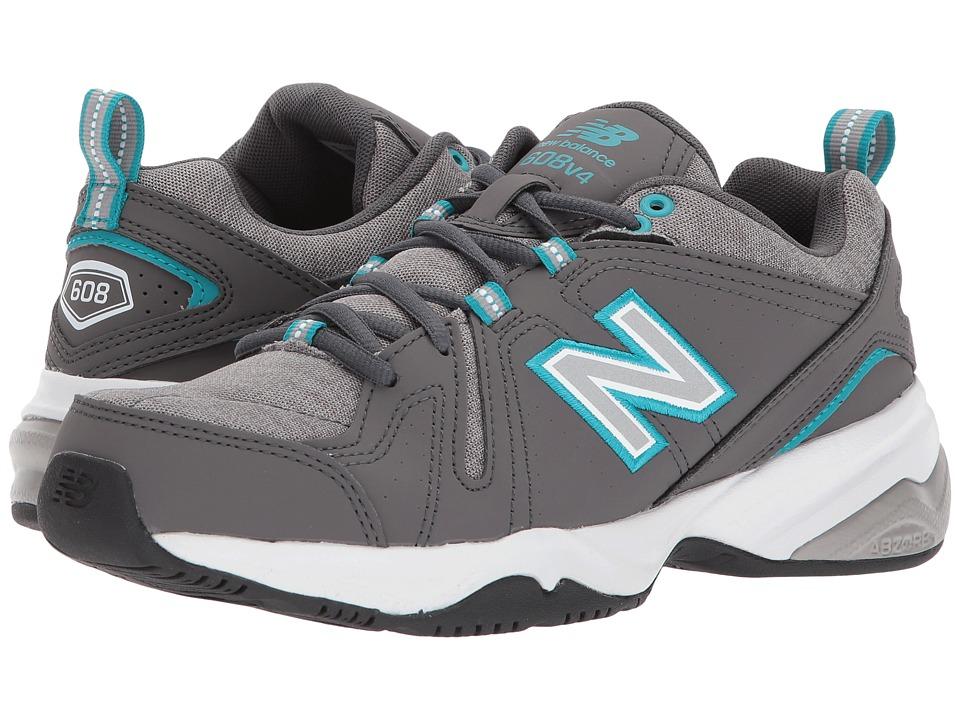 New Balance - WX608v4 (Gray/Blue) Womens  Shoes