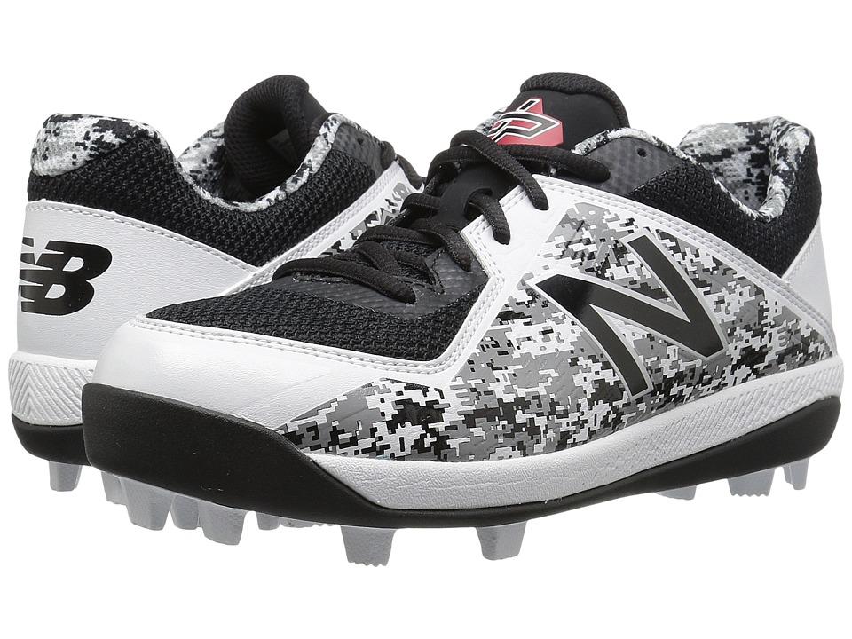 New Balance Kids J4040v4 Baseball (Little Kid/Big Kid) (Black/Camo) Kids Shoes