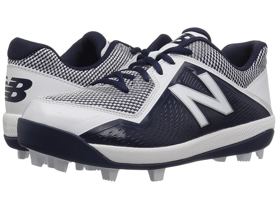New Balance Kids J4040v4 Baseball (Little Kid/Big Kid) (Navy/White) Kids Shoes
