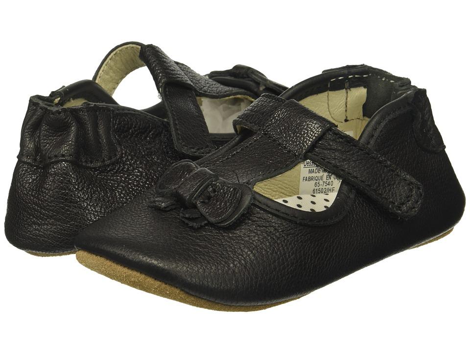 Robeez Tori T-Strap First Kicks (Infant/Toddler) (Black) Girl's Shoes