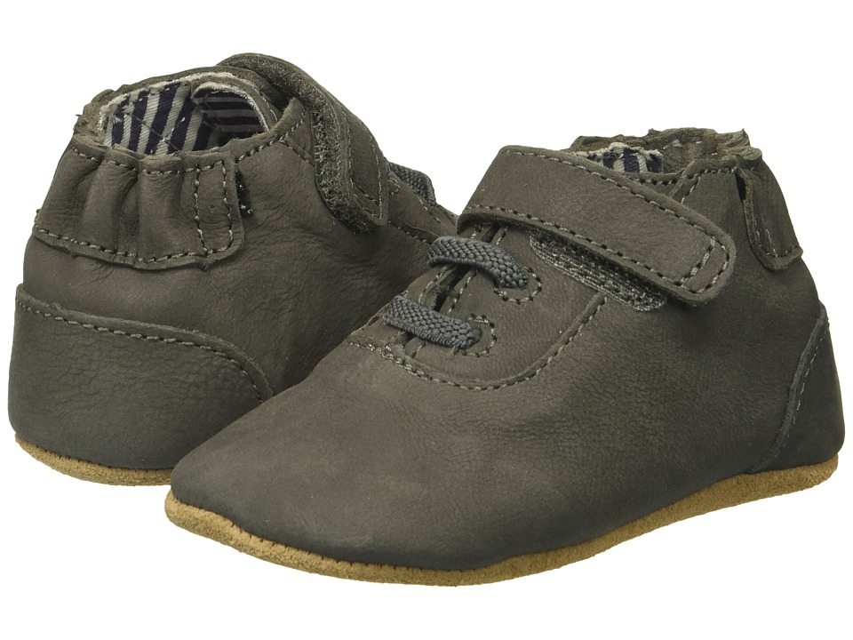 Robeez George First Kicks (Infant/Toddler) (Grey) Boy's Shoes