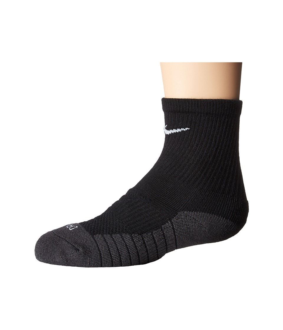 Nike Kids 3-Pair Pack Dri-Fit Crew Socks (Toddler) (Black) Boys Shoes