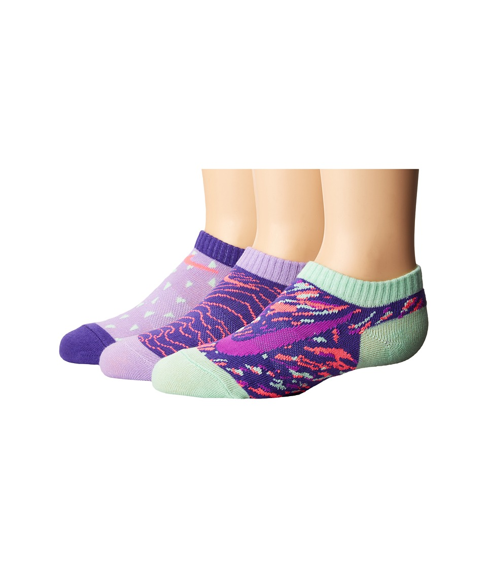 Nike Kids 3-Pair Pack Graphic No Show (Toddler) (Hydrangeas) Girls Shoes