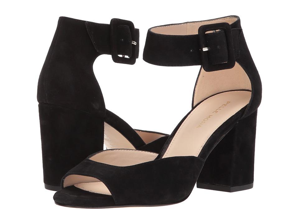 Pelle Moda - Bijou (Black Suede) Womens 1-2 inch heel Shoes
