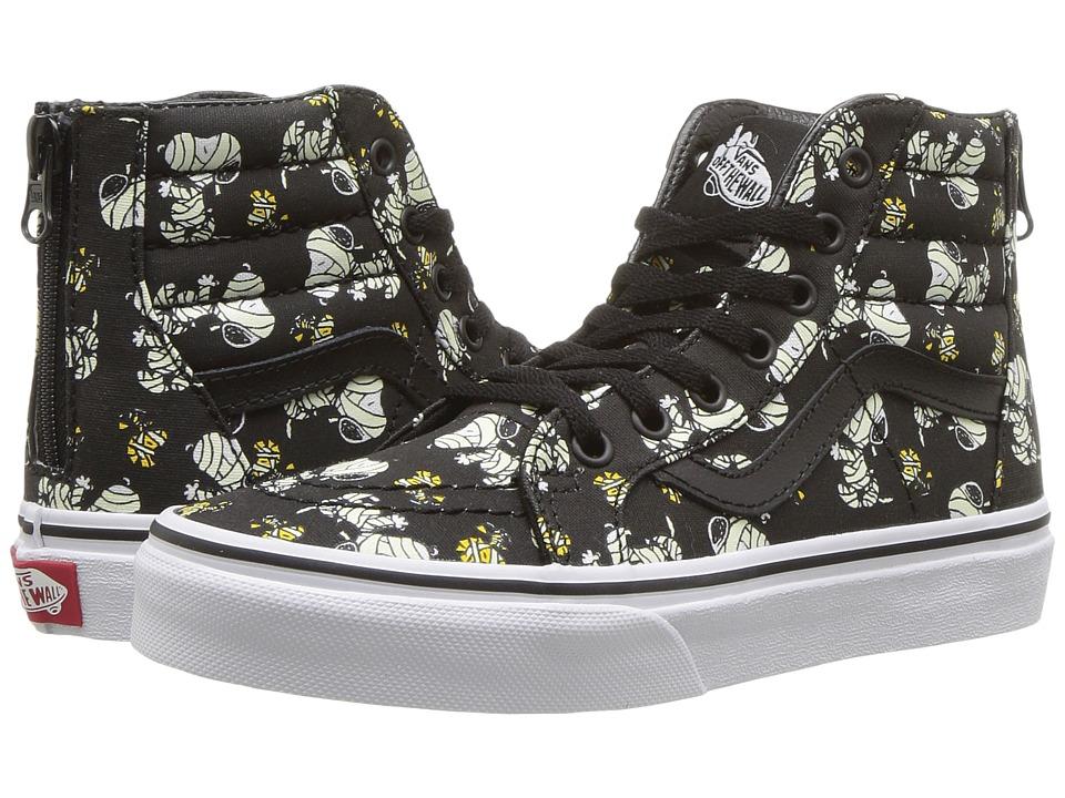 Vans Kids Sk8-Hi Zip x Peanuts (Little Kid/Big Kid) ((Peanuts) Glow Mummies/Black) Kids Shoes