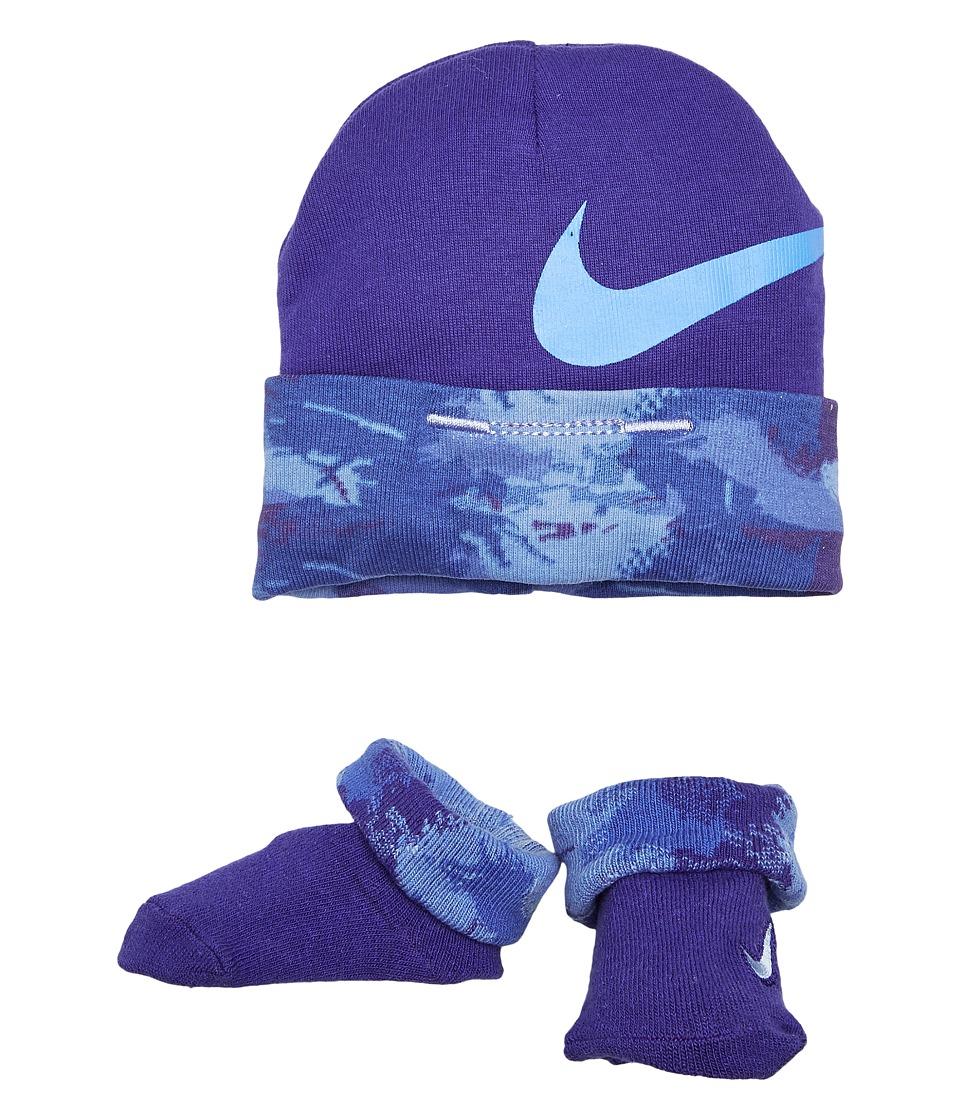 Nike Kids 2-Pair Pack Primal Hat Bootie (Infant) (Binary Blue) Boys Shoes