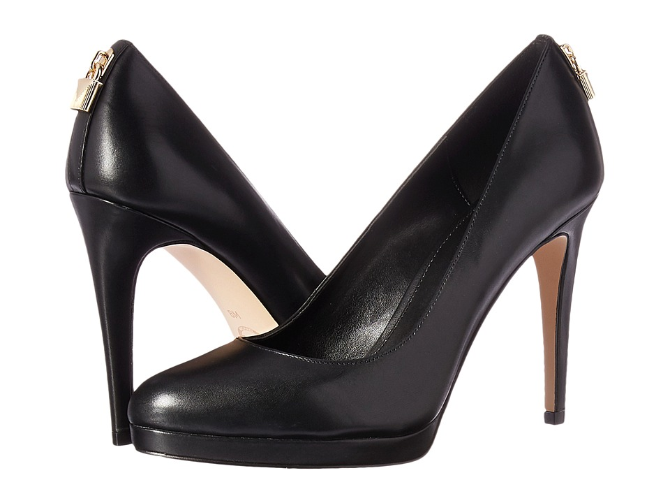 MICHAEL Michael Kors Antoinette Pump (Black Smooth Calf) High Heels