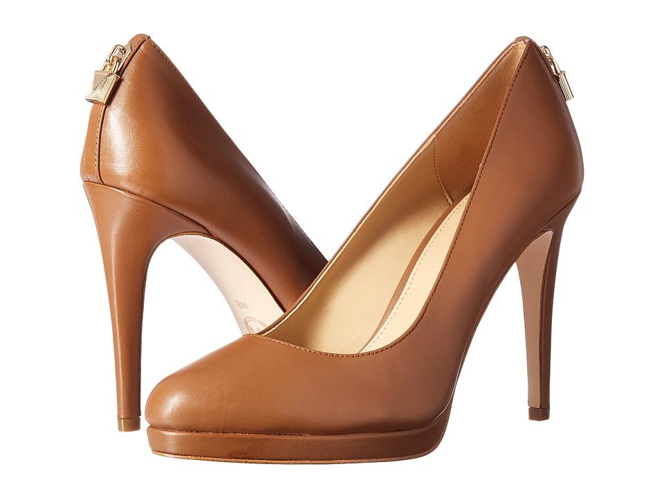 MICHAEL Michael Kors Antoinette Pump (Luggage Smooth Calf) High Heels