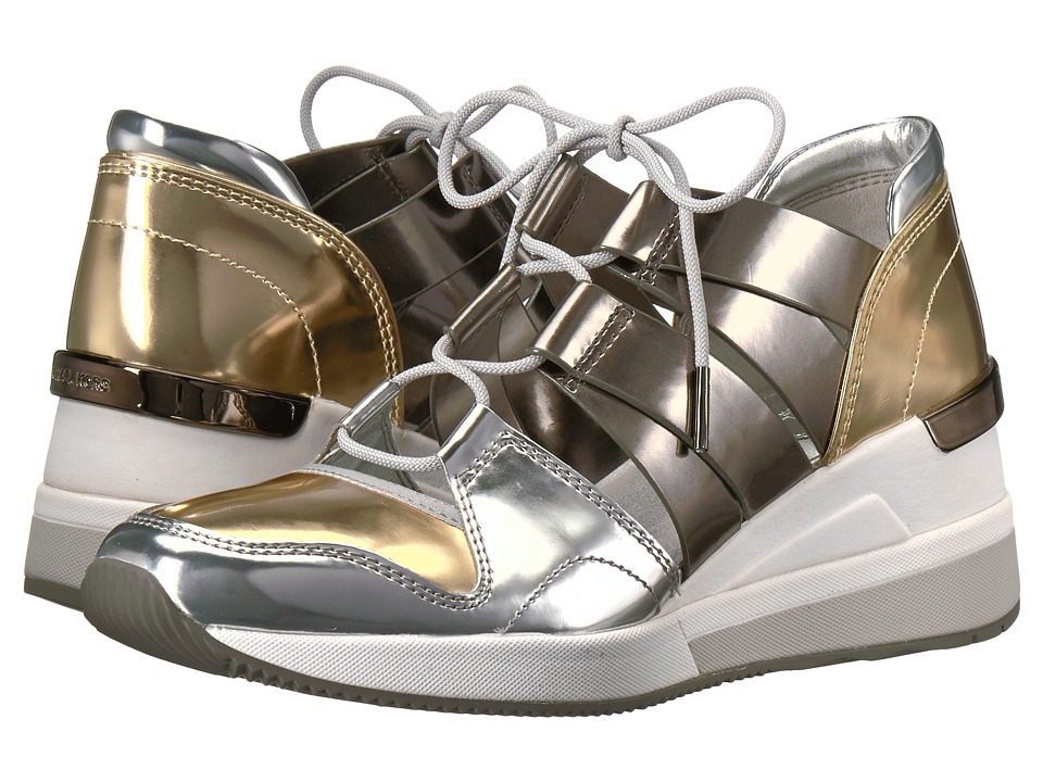 MICHAEL Michael Kors Beckett Trainer (Pale Gold/Gunmetal Mirror Metallic) Women