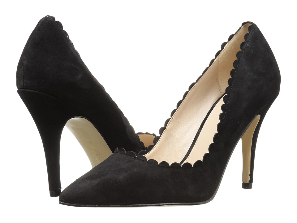 Pelle Moda Vail (Black Suede) Women's Shoes