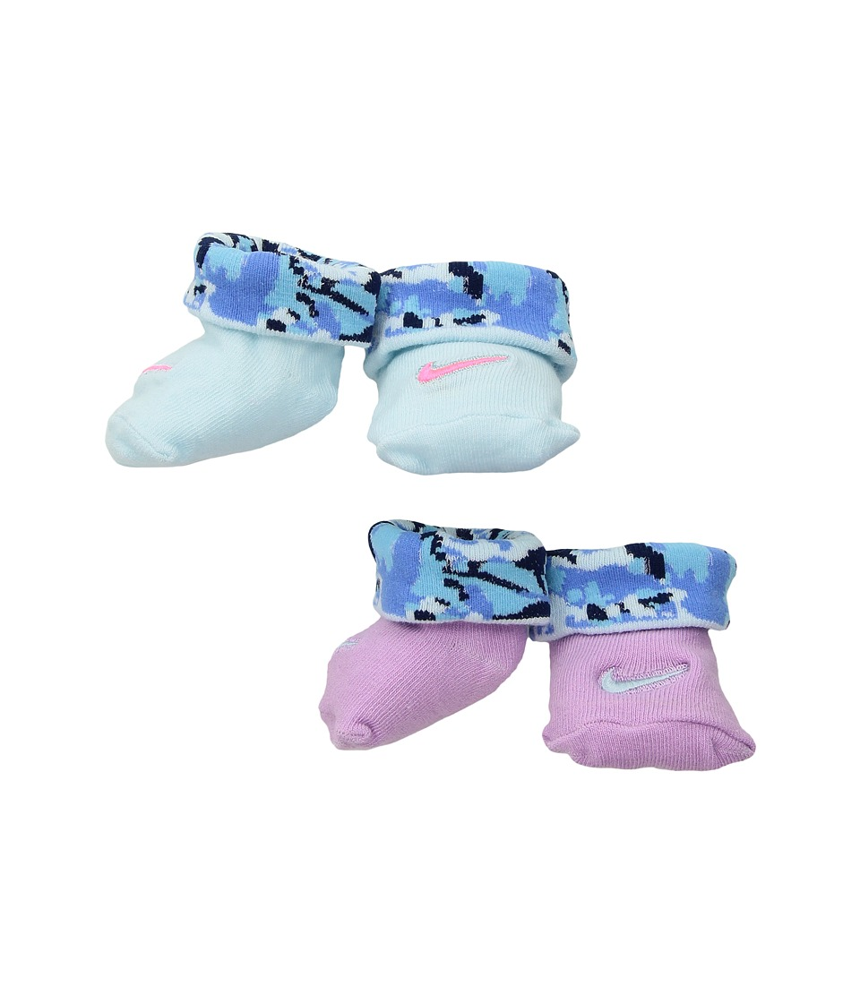 Nike Kids 2-Pair Pack Daytrip Cuff Bootie (Infant) (Orchid) Girls Shoes