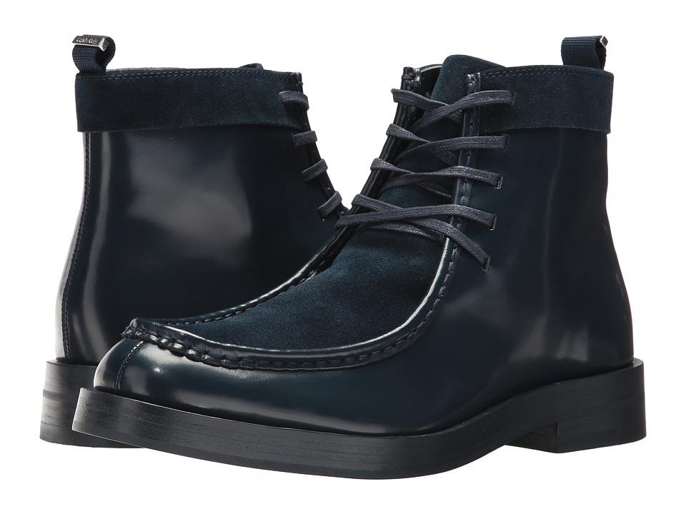 Calvin Klein Rafi (Dark Navy Box Leather/Calf Suede) Men