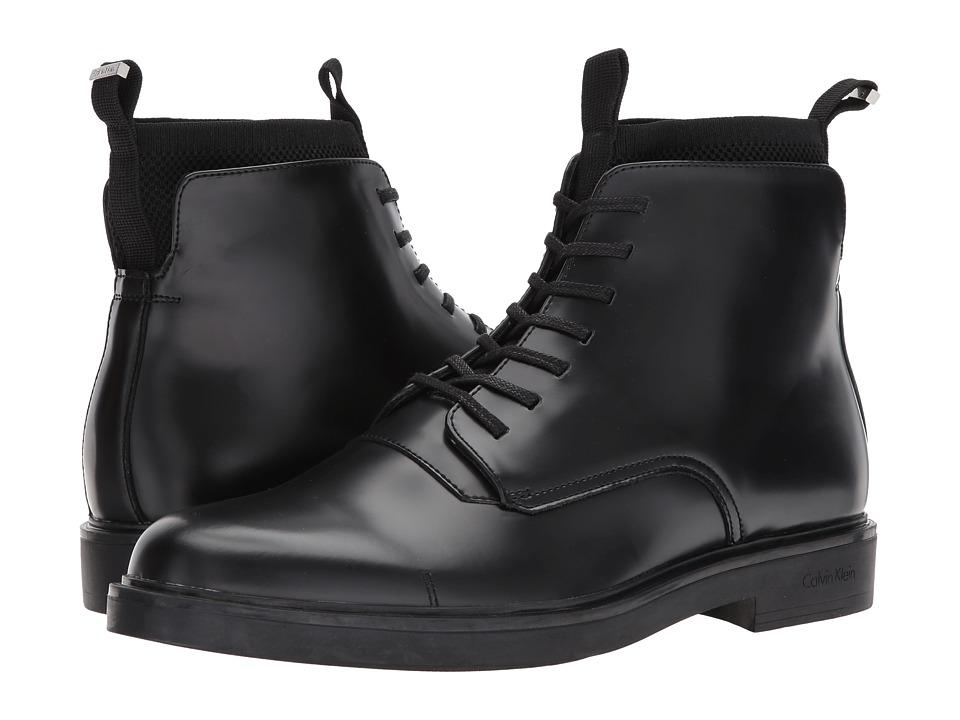 Calvin Klein Devlin (Black Box Leather/Knit) Men