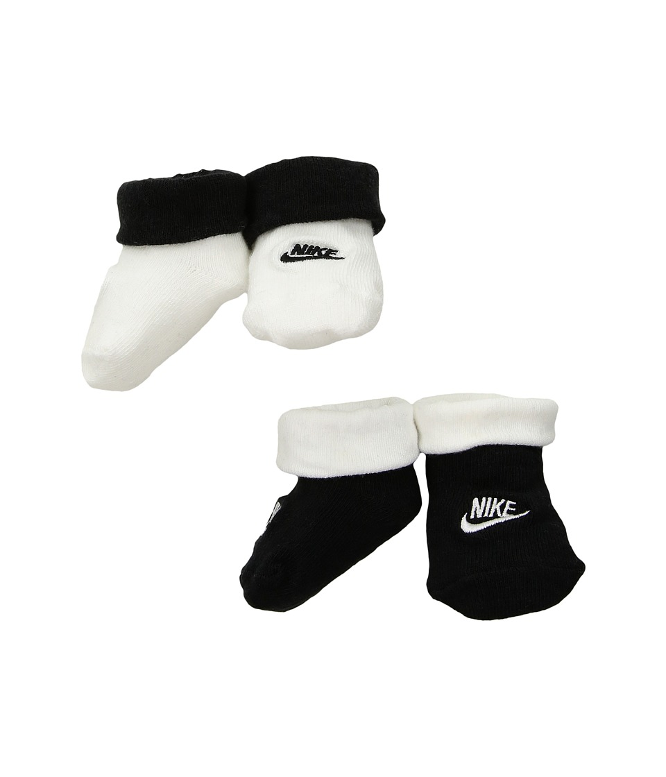 Nike Kids 2-Pair Pack Futura Booties (Infant) (Black) Boys Shoes
