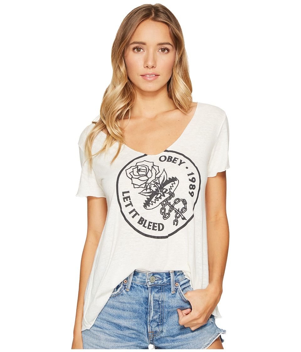 Obey Let It Bleed Tee (Natural) Women